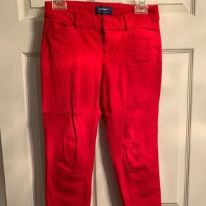 Red old navy pixie style pants